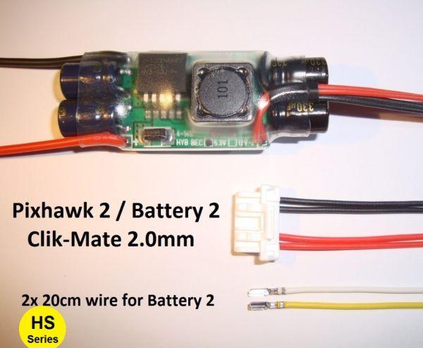 Mauch 085 4-14S HYB-BEC Backup BEC for Pixhawk 2.1 / Clik-Mate 2.0-6P