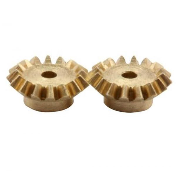 Kegelzahnrad 2 Stück Modul 0.3 16 Zähne M0.3 Messing Z16K3