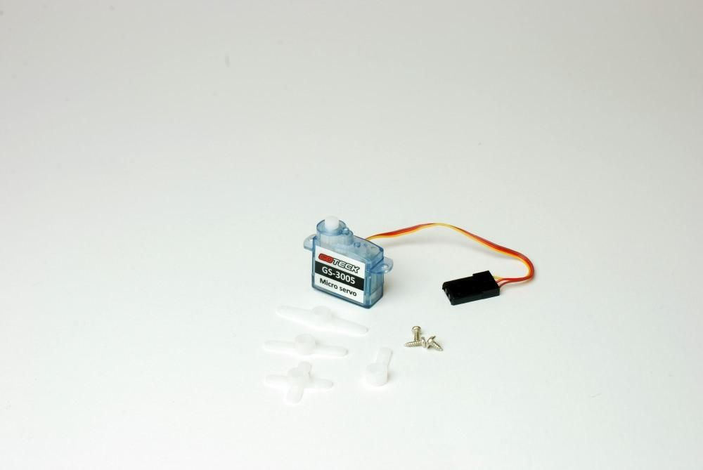 2,5g Micro Servo 0,7kg/cm 0,12sec GS-3005 für Indoor + Parkflyer JR-Version