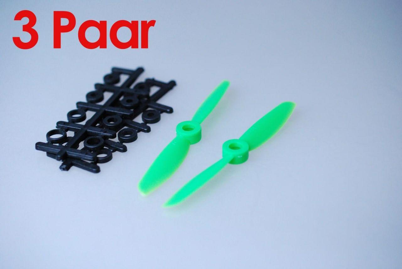 3x Paar 4x4,5 Grün CCW + CW Propeller Quadrocopter rechts + links drehend