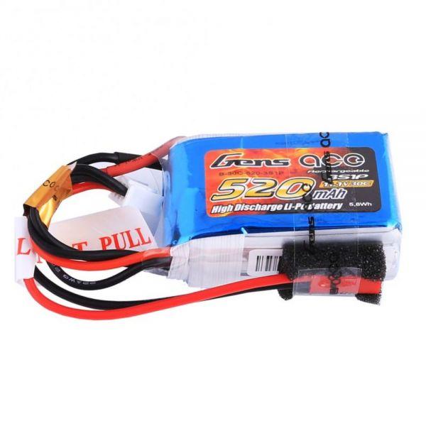 Gens Ace LiPo Akku Pack 3S 520mAh 11,1V 30C Micro FPV Racing