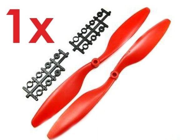 1x Paar 10x4,5 in Rot CCW + CW Propeller Luftschraube rechts + links