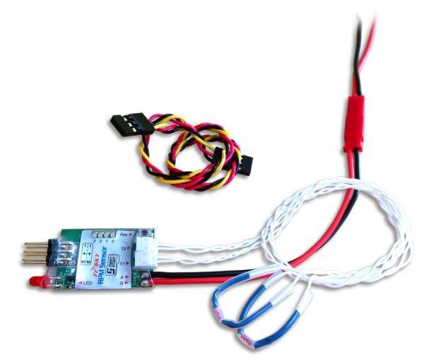 FrSky Drehzahl und Temperatur Sensor Smartport Telemetrie Empfänger RPMS-02