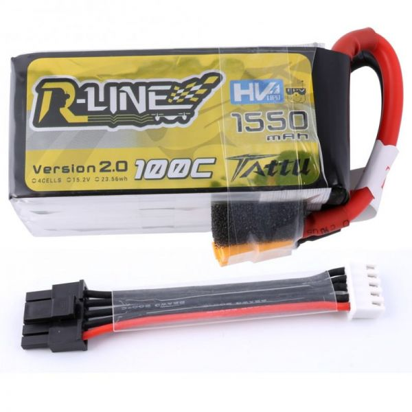 Gens Ace TATTU R-Line High Voltage LiPo Akku 4S 1550mAh 15,2V 100-200C