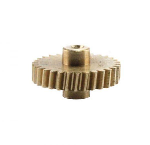 Zahnrad 30 Zähne Modul 0.3 1mm Bohrung Messing schrägverzahnt M0.3 Z303SF