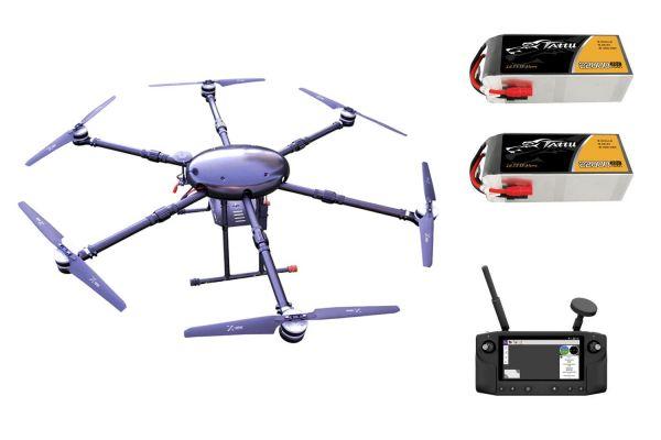 PM Raptor Carbon Hexacopter Rahmen bis 10kg Nutzlast - RTF Komplettset