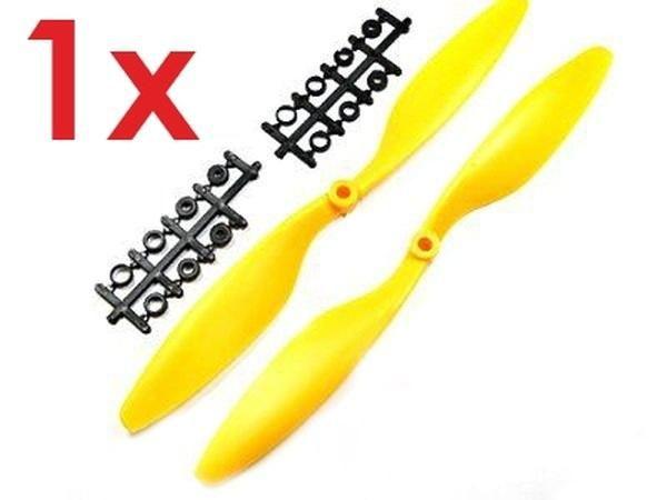 1x Paar 10x4,5 in Gelb CCW + CW Propeller Luftschraube rechts + links