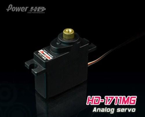 PowerHD HD-1711MG Mini Metallgetriebe Servo 17,5g 3.5kg 0,11sec 4,8V-6V Tiny-MG