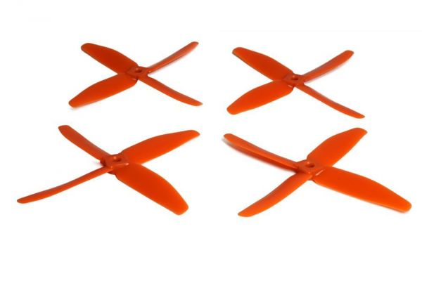 5x4 Gemfan 2x CW 2x CCW 4-Blatt Propeller Orange Nylon GF 5040