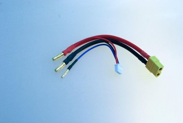 Adapterkabel XT60 auf 4mm Goldstecker LiPo Hardcase für 2S 7,4V
