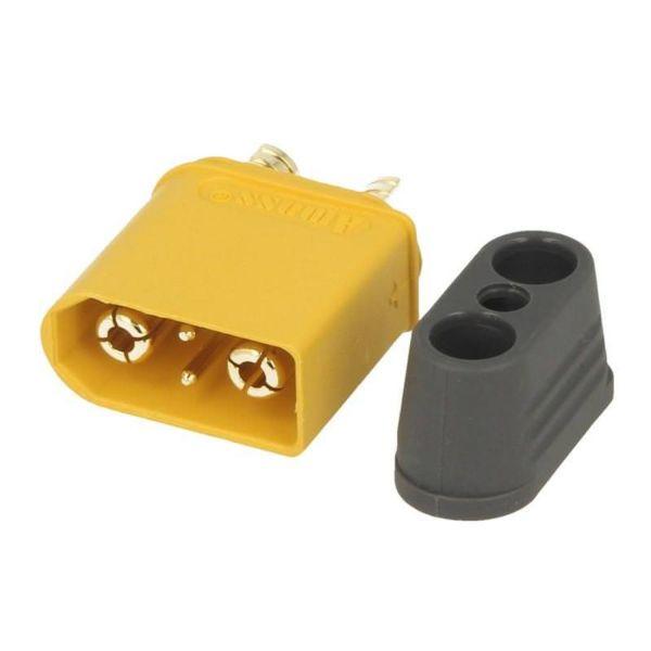 XT90i Stecker gelb - mit Schutzkappe und BattGo Pin