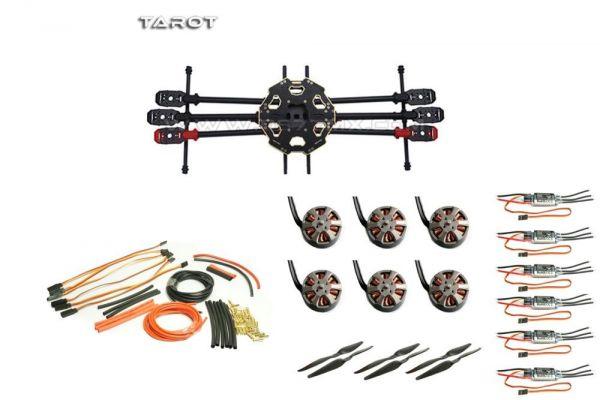 Tarot 680 Pro 4S Set T-Motor MN3508 Motoren + 30A Regler + 13x5.5 CF