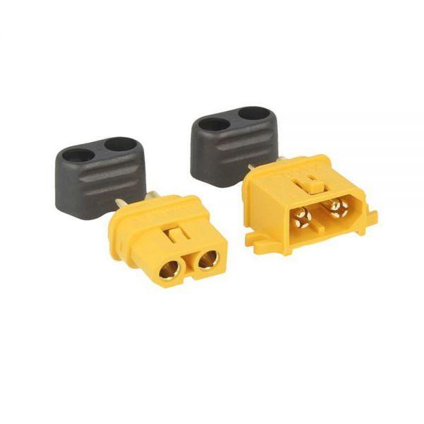XT60-L Buchse u. Stecker mit Lasche - gelb