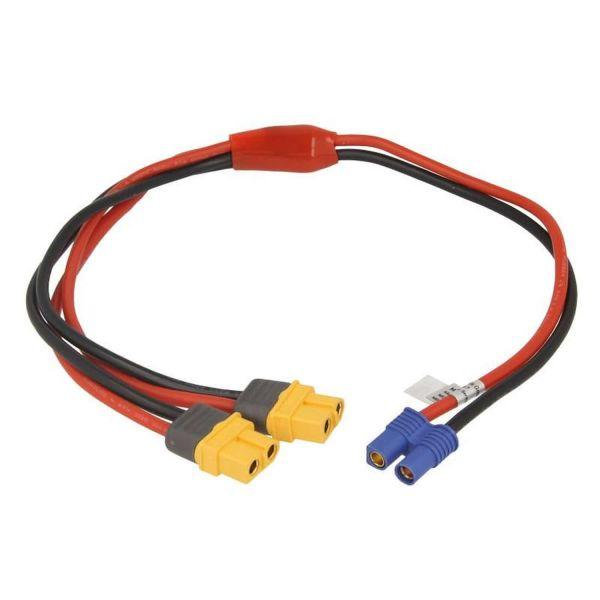 Netzteil Y-Anschlusskabel für iSDT SP2417/SP2425 - EC3 Buchse zu 2x XT60 Buchse