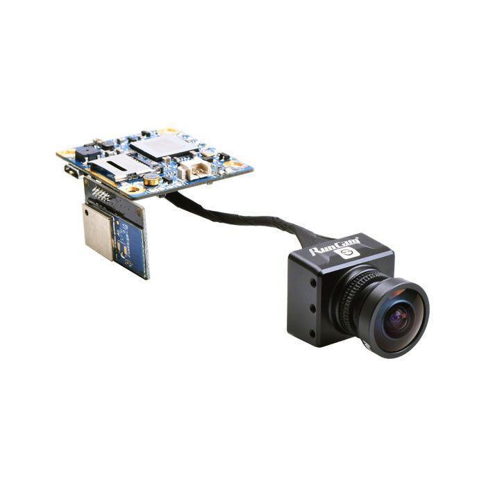 RunCam Split HD und FPV Kamera FOV 165° mit WLAN in schwarz