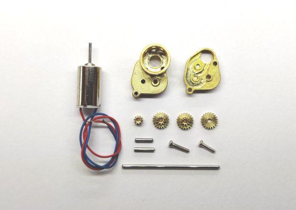 DAS87 DS87E18 Getriebe 1:8 Verteilergetriebe Bausatz Messing 1:87