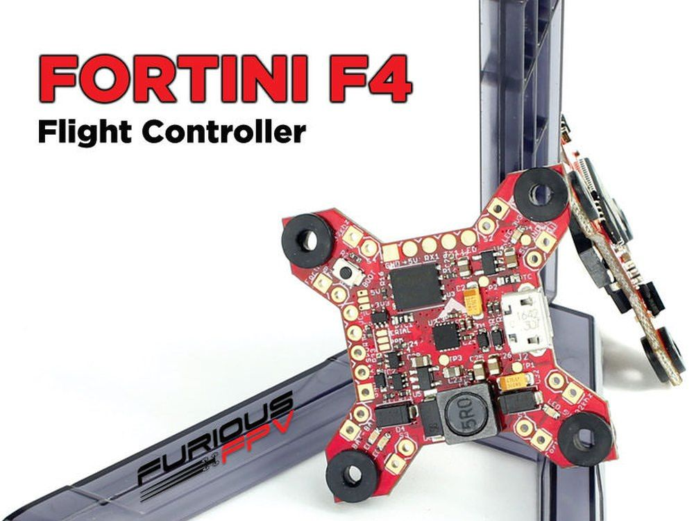 FuriousFPV Fortini F4 FC Flight Controller 32Khz 16MB Black Box