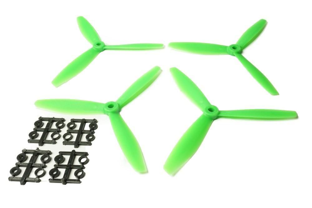 6x4 Gemfan 4x 3-Blatt Propeller Rechts Grün Nylon GF Bullnose 6040