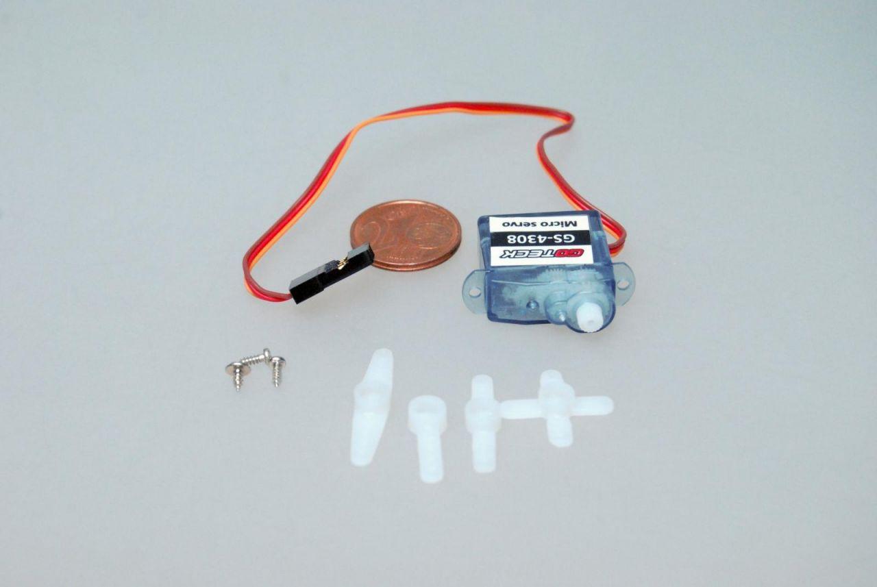 4,4g Micro Servo 0,8kg/cm 0,1sec GS-4308 für Indoor und Parkflyer