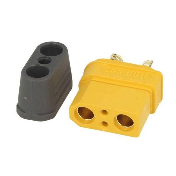 XT90i Buchse gelb - mit Schutzkappe und BattGo Pin