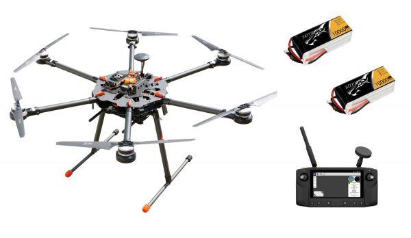 PM X6 Carbon Hexacopter Rahmen bis 5kg Nutzlast - RTF Komplettset