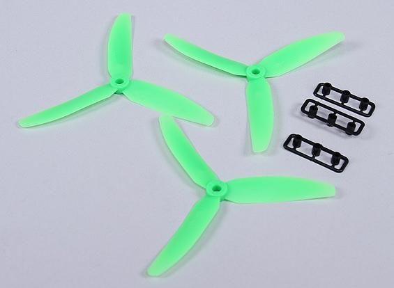 3x 5x3 3-Blatt Propeller Luftschraube Quadrocopter Links in Grün