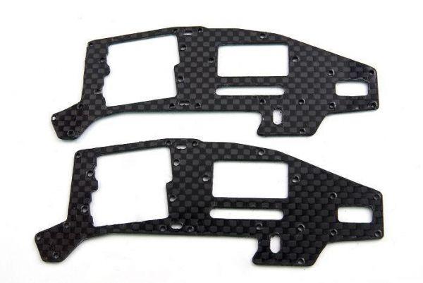 2x CFK Chassis Seitenteil Oben für T-Rex 250 CopterX HK