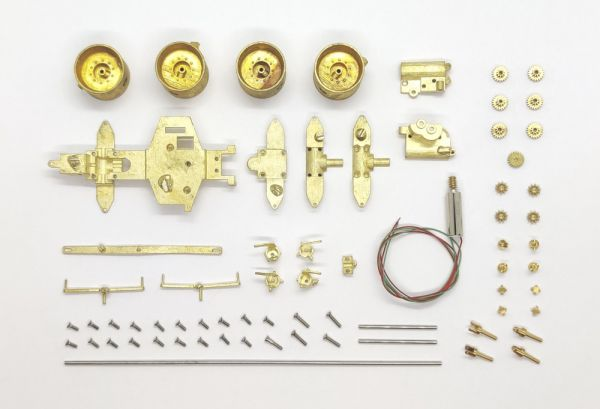 DAS87 Umbausatz Traktor Claas Xerion 5000 4WD Messing für 1:87