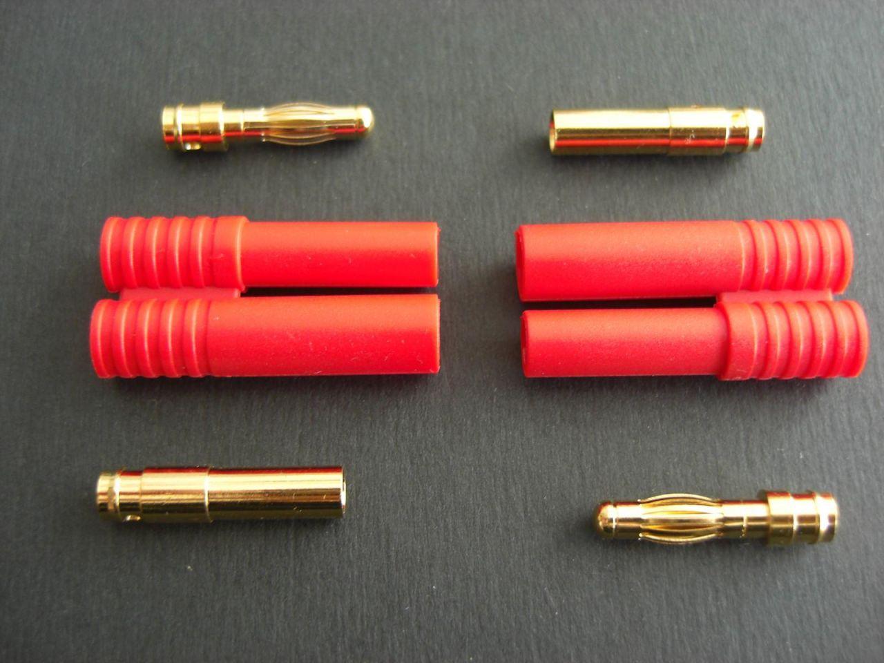 2x 4mm Goldstecker verpolsicher für Turnigy Zippy LiPo
