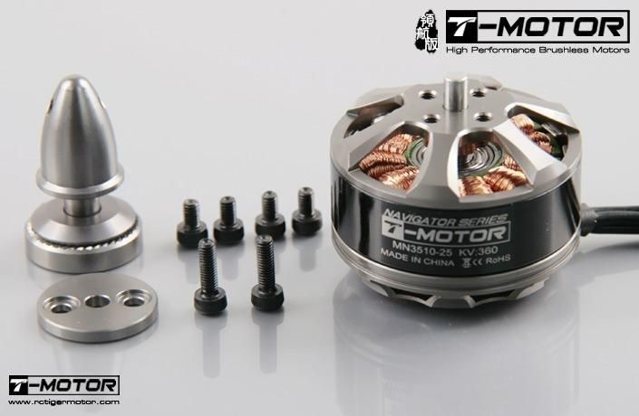 T-Motor MN3510 - 25 360kv Tiger Brushless Motor 3S-6S 97g Quad Hexa Multicopter