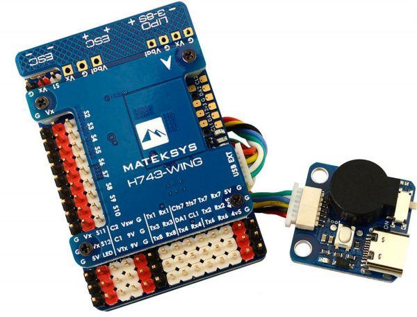 Matek H743-WING STM32H7 Flightcontroller 480Mhz, Ardupilot CAN BUS