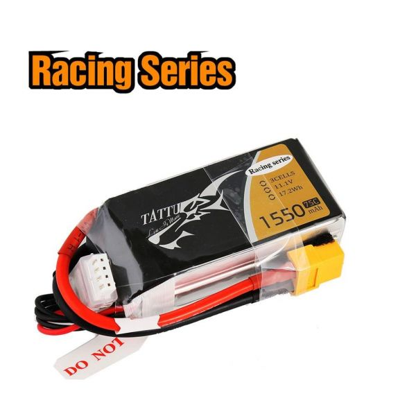 Gens Ace TATTU LiPo Akku Pack 3S 1550mAh 11,1V 75C 150C 250 Racing Series