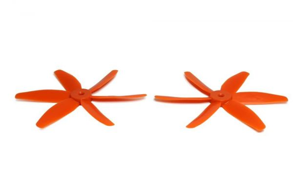 5x4 Gemfan 1x CW 1x CCW 6-Blatt Propeller Orange Nylon GF 5040