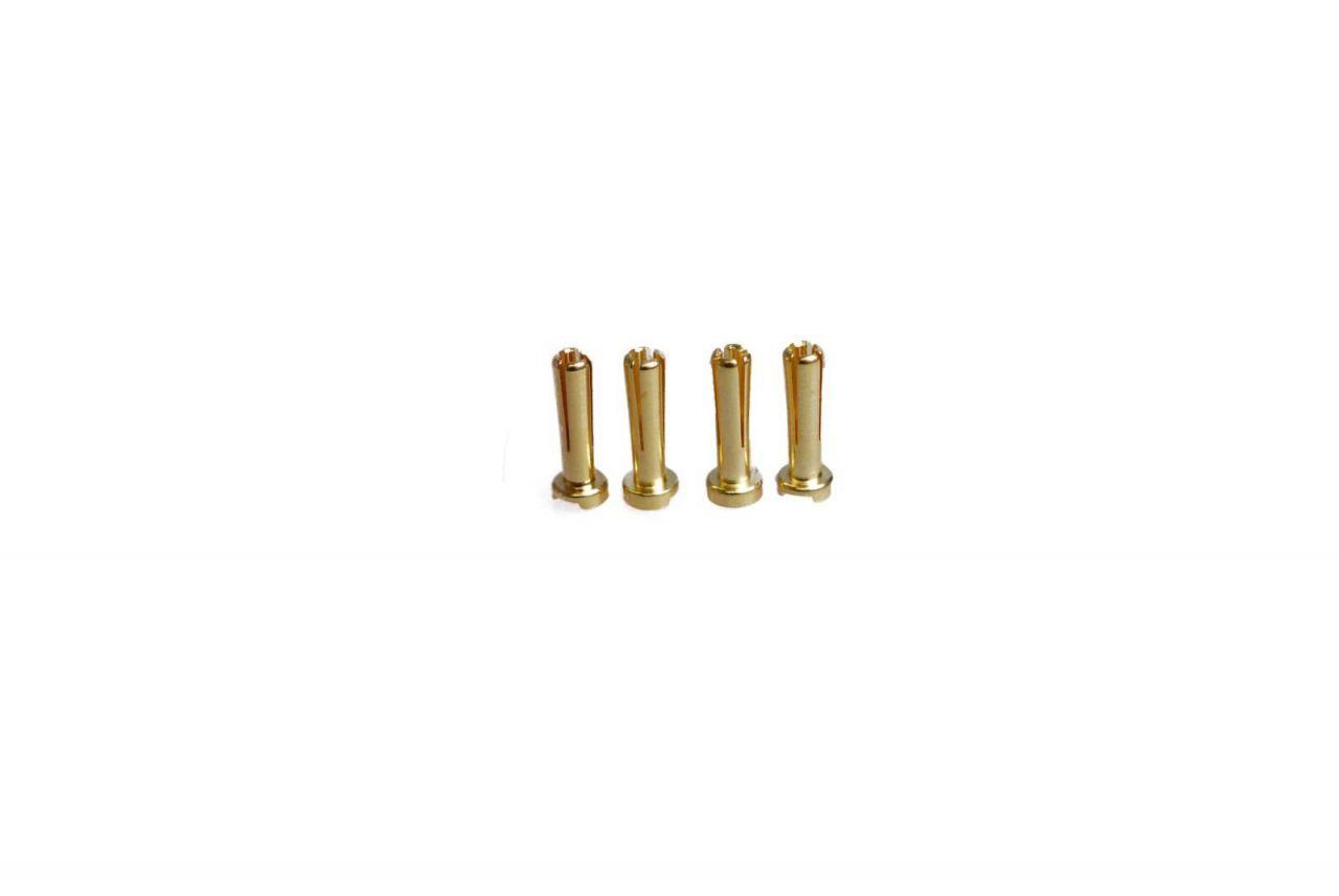 4mm Low Profile Goldstecker 4 Stück Goldkontakte für Hardcase