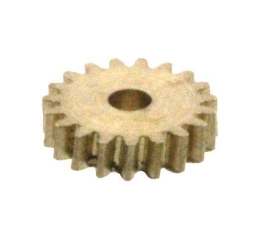 Zahnrad 19 Zähne Modul 0.2 1mm Bohrung Messing schrägverzahnt M0.2 Z19S