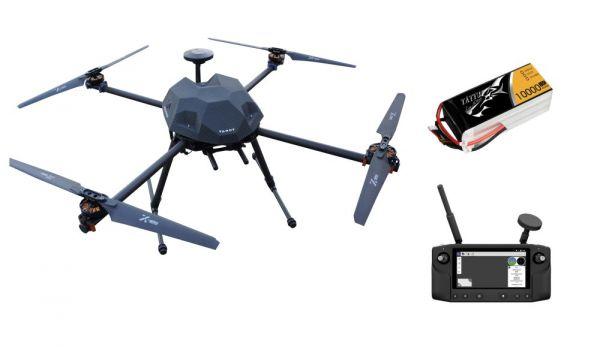 PM Q-685 klappbarer Carbon Quadcopter Rahmen - RTF Komplettset