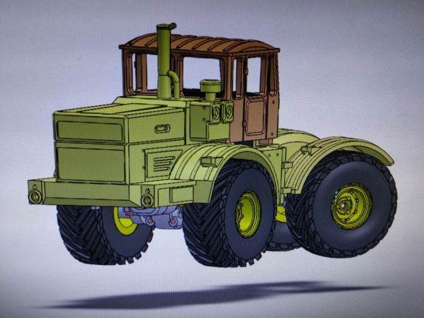 DAS87 Bausatz Traktor K-701 Kirovets 4WD Messing für 1:87