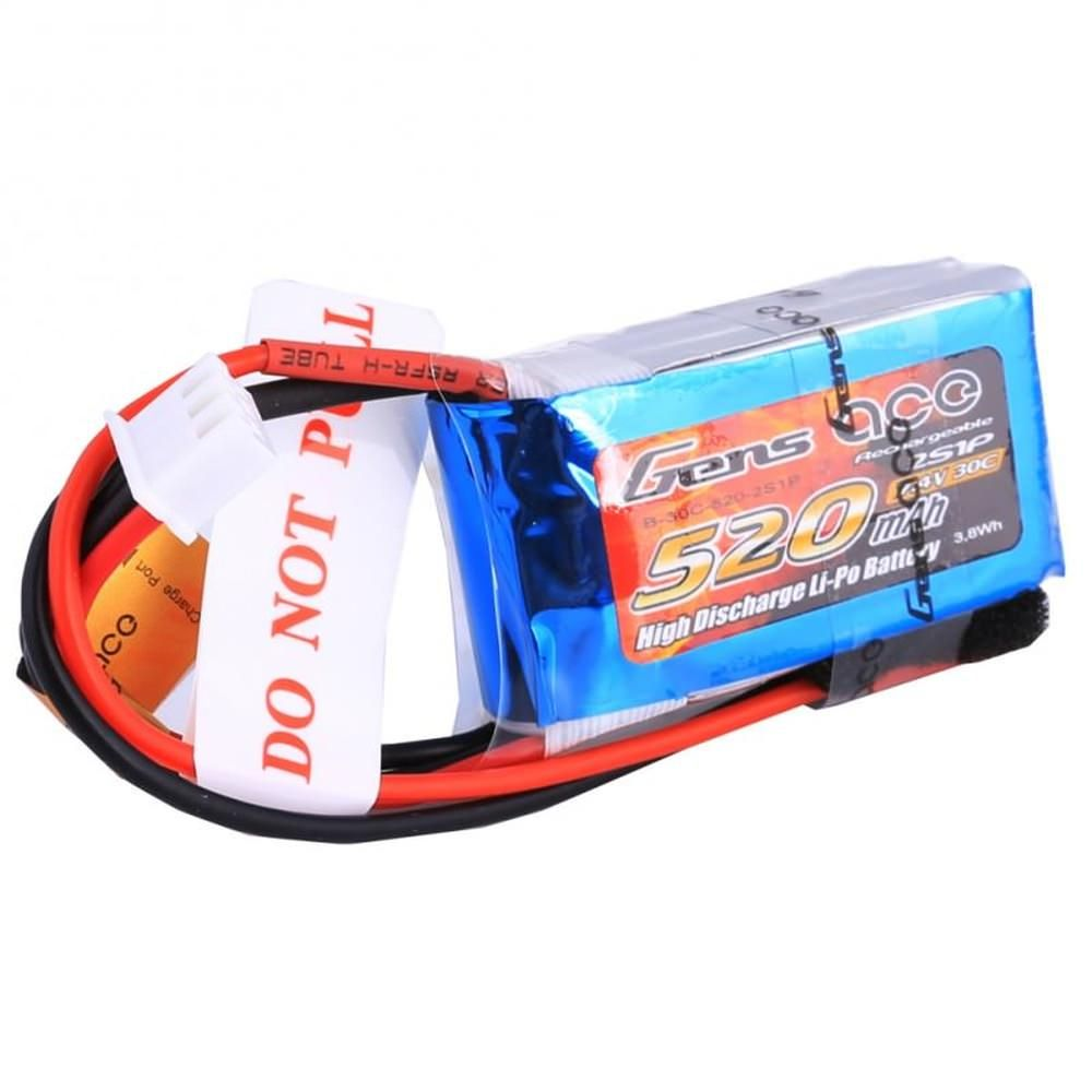 Gens Ace LiPo Akku Pack 2S 520mAh 7,4V 30C Micro FPV Racing