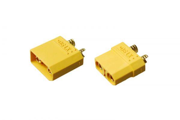 XT90 1 Paar Stecker Buchse - 90A Hochstrom Goldstecker HXT Turnigy Zippy Lipo
