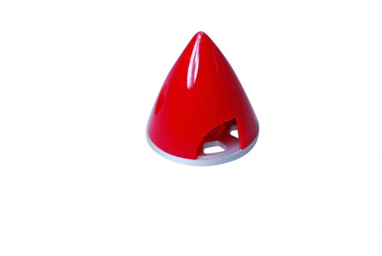 Spinner Alu-Kunststoff 63mm Rot für starre Luftschrauben Propeller