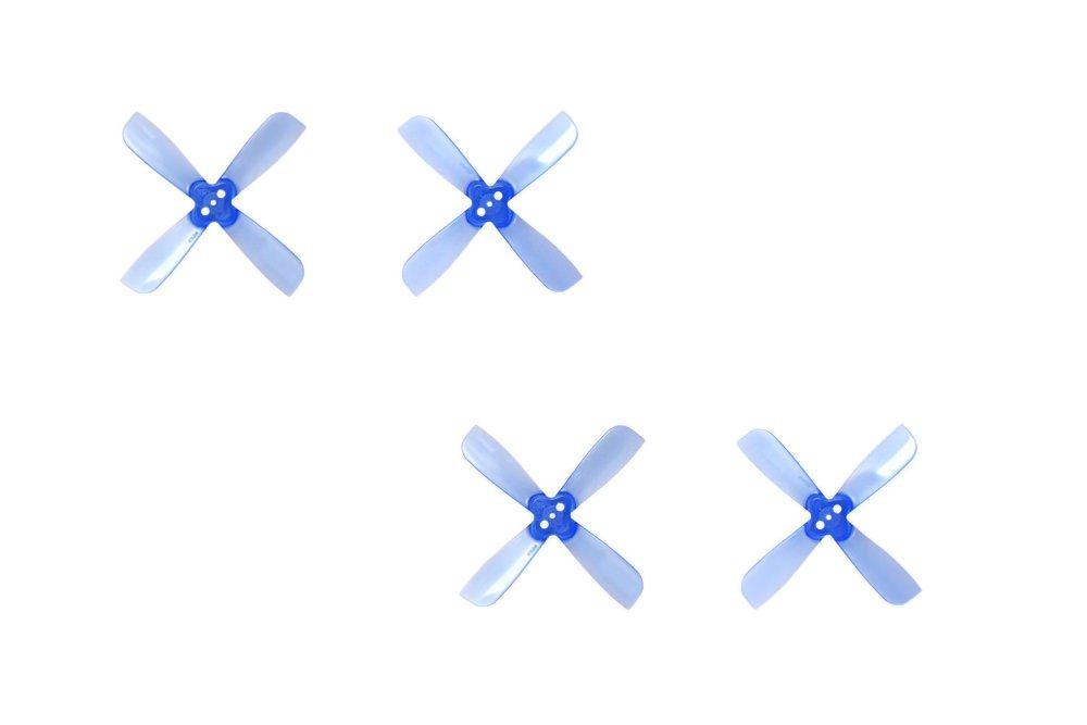2x3.5 Gemfan 4-Blatt M2 FPV Race Propeller Blau Luftschraube 2035 BN