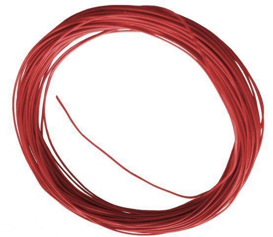 Flexible Litze in Rot 10m 0,6mm Durchmesser