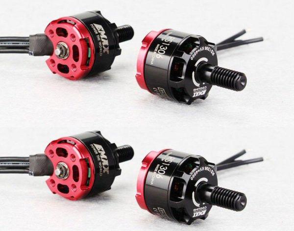 Emax RS1306 FPV Racing Brushless Motor 3300kv 3S-4S 12,5g Quadcopter Set