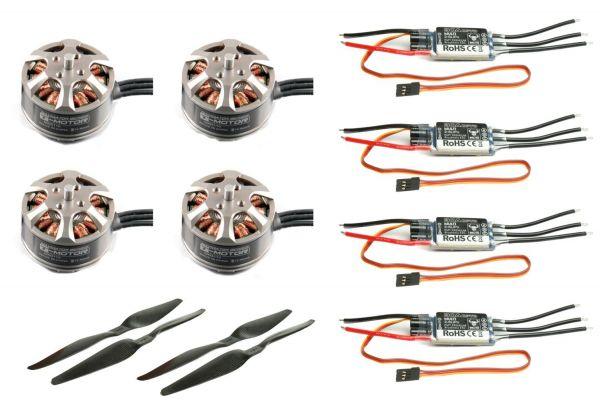 Tarot 650 Sport 4S Quad Set 4x MN3110 Motor 470kv, 4x 30A SK Regler, 15x5.5 CF