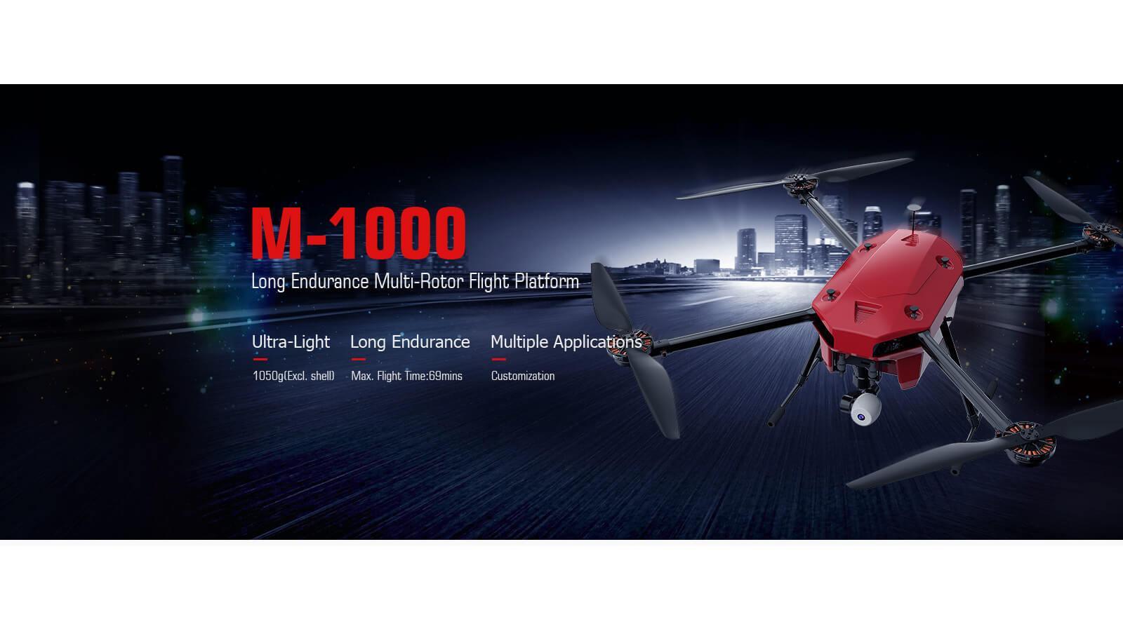 T-Motor M1000 Carbon Quadcopter mit MN7005 Antriebsset