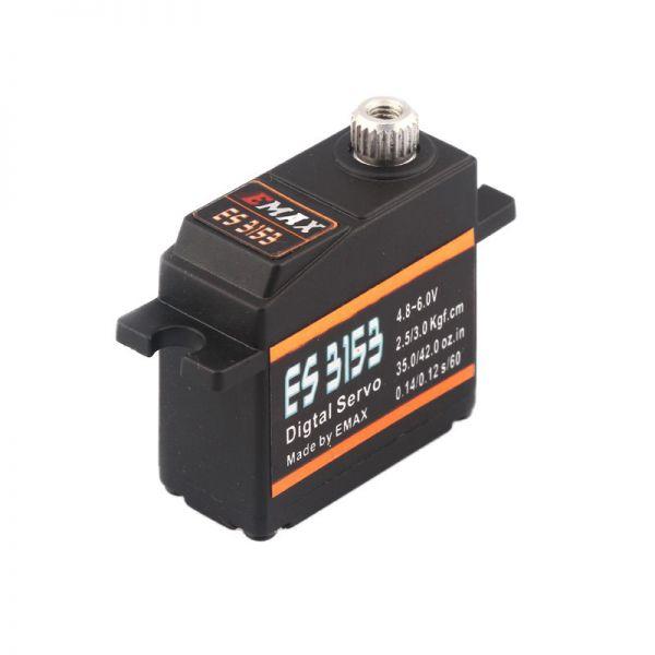 Emax ES3153 Digital Mini Servo 17g 3.0kg 0,12sec 4,8V-6V Kugellager BB