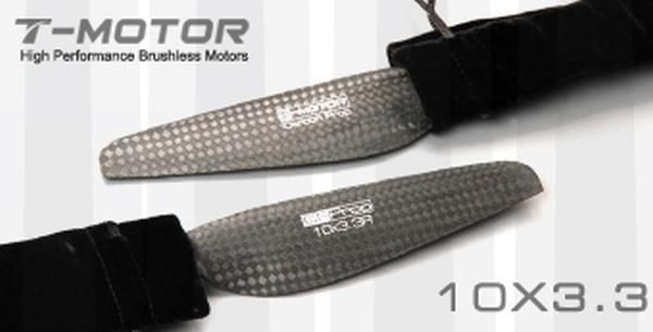 T-Motor 10x3.3 Carbon Fiber Propeller 1x CW 1x CCW MN Tiger Multicopter