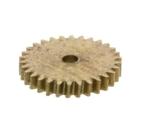 Zahnrad 30 Zähne Modul 0.2 1mm Bohrung Messing schrägverzahnt M0.2 Z30S
