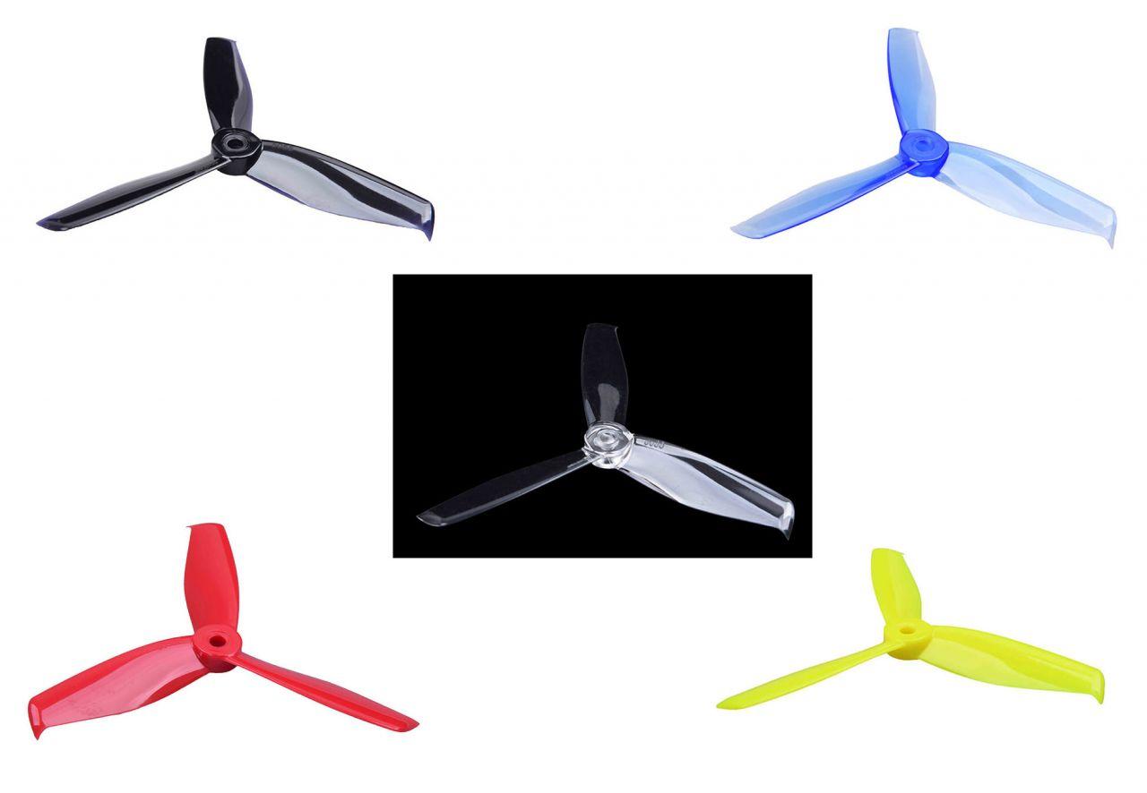 5x5.5 Gemfan Hulkie 3-Blatt FPV Race Propeller 2xL 2xR 5055 - Auswahl