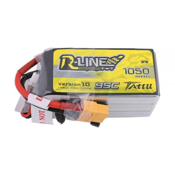 Gens Ace TATTU R-Line LiPo Akku Pack 6S 1050mAh 22,2V 95C 190C FPV